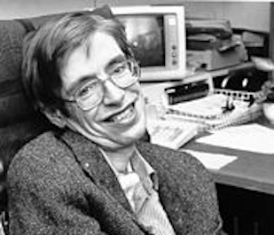 Photo of Stephen Hawking used a basis for time machine art