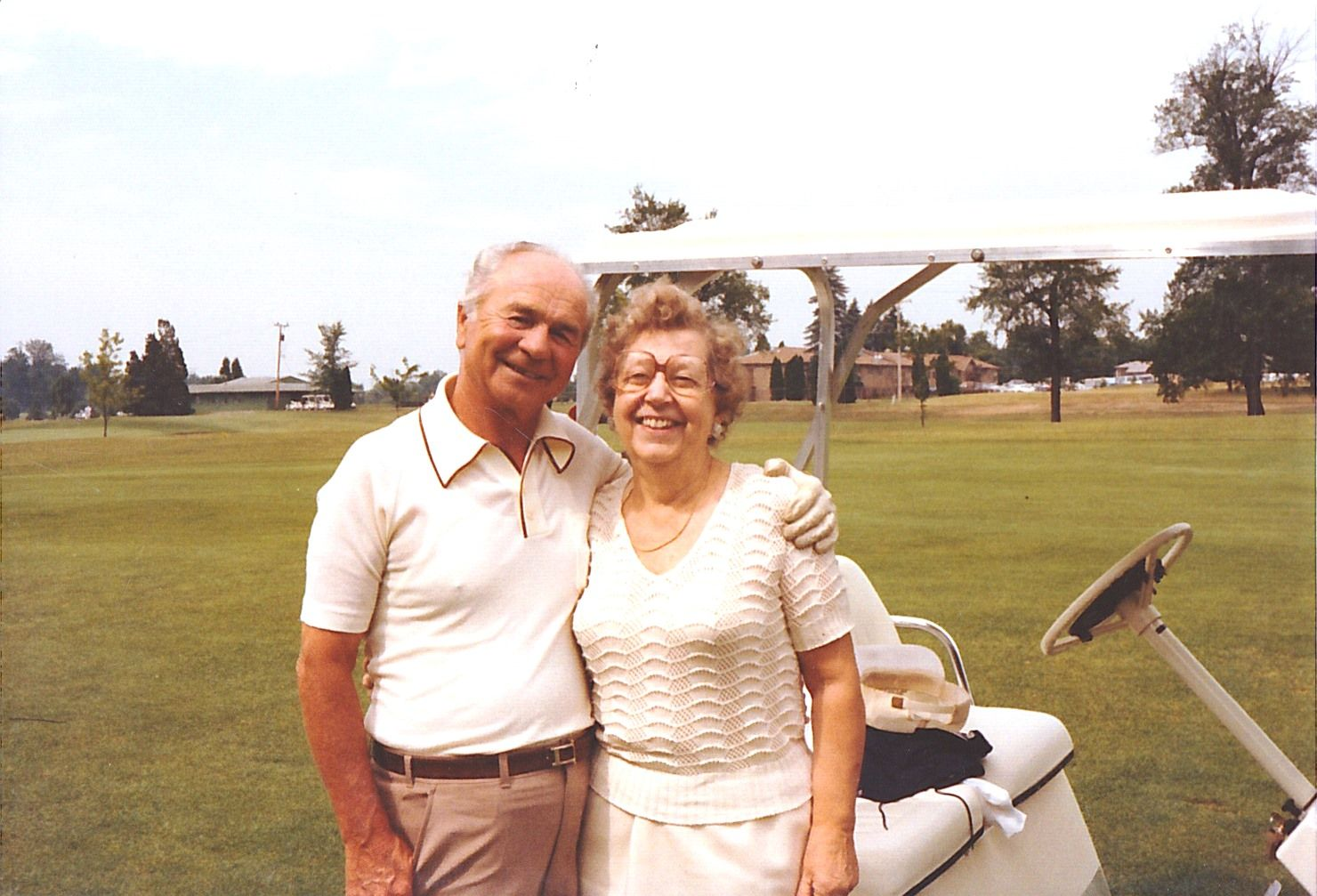 Alexander and Estelle Dul after purchasing Fox Hills Golf Course.