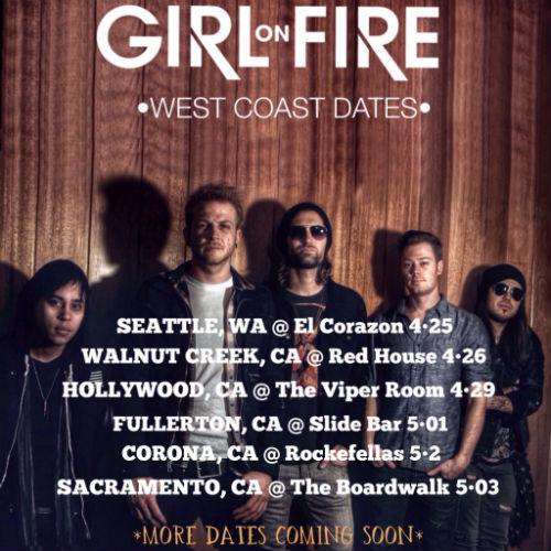 GIRL ON FIRE west coast dates