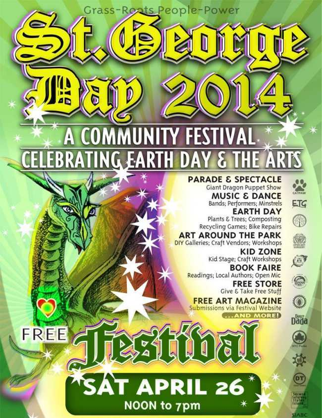 Saturday, April 26, 2014, Noon to 7pm Tompkinsville Park, Staten Island  FREE