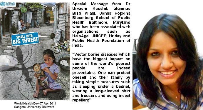 Sangam University Bhilwara Rajasthan – World Health Day
