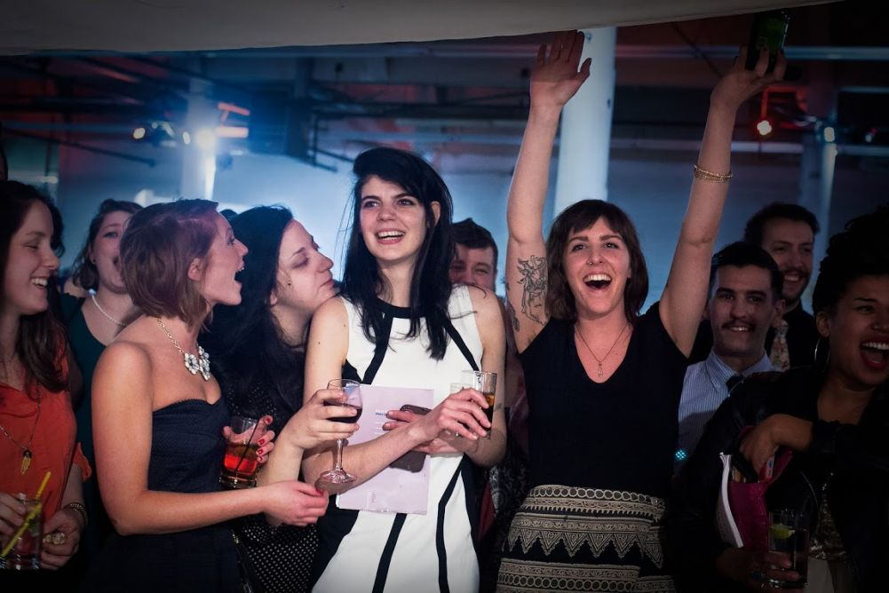 Montserrat students & alumni celebrate during auction. Cred: Dino Rowan Traite