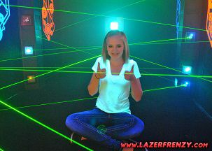 Lazer Frenzy laser maze is installed in local mall in Texas