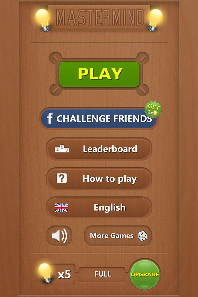Mastermind Board Game Screenshot 1