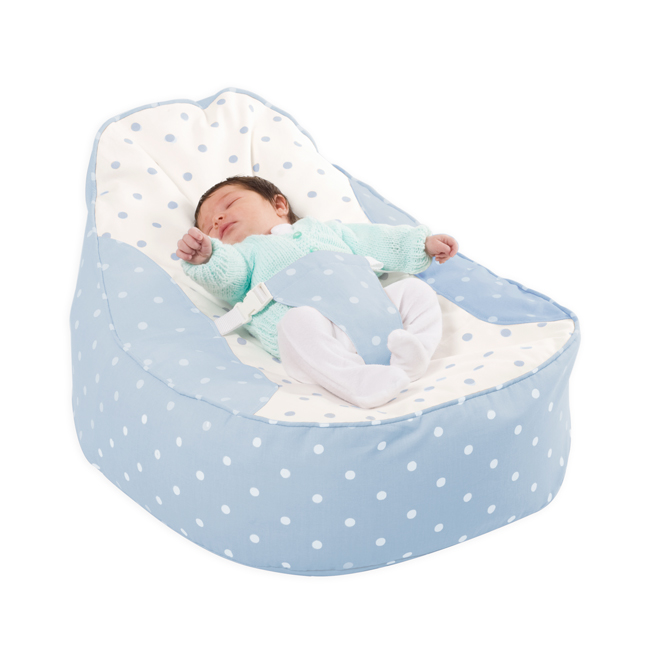 Bambeano Baby Bean Bag in baby blue