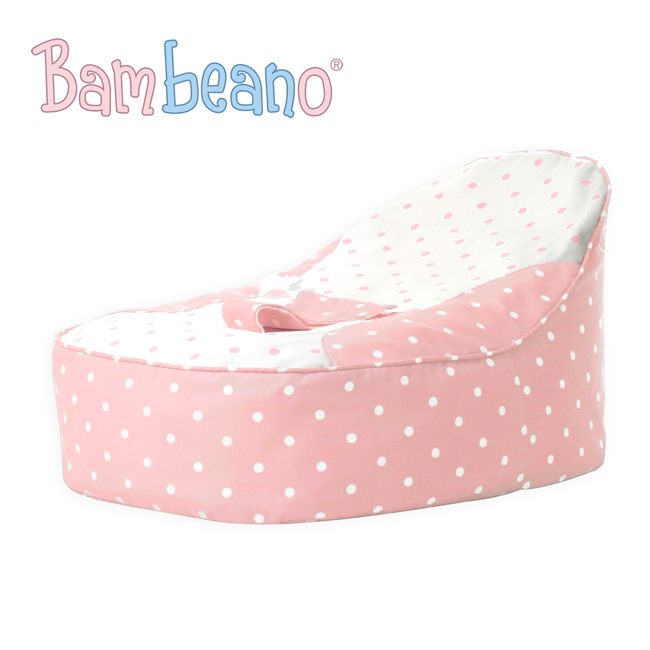 Bambeano Baby Bean Bag in baby pink