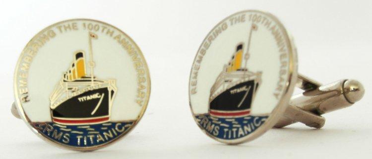 RMSTitanic 100th Anniversary Metal Cufflinks