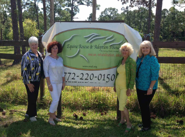Equine Rescue and Adoption Foundation board members at new property site.