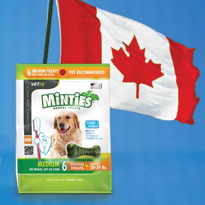 Minties in Canada
