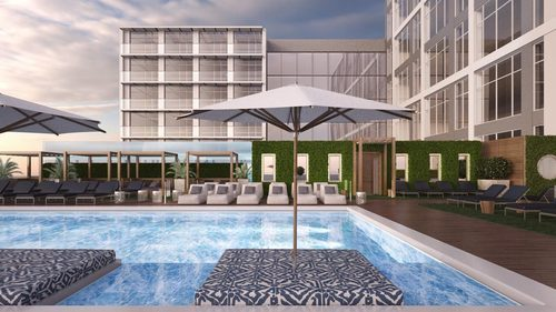 Rendering: Penthouse Pool & Lounge at the Yards