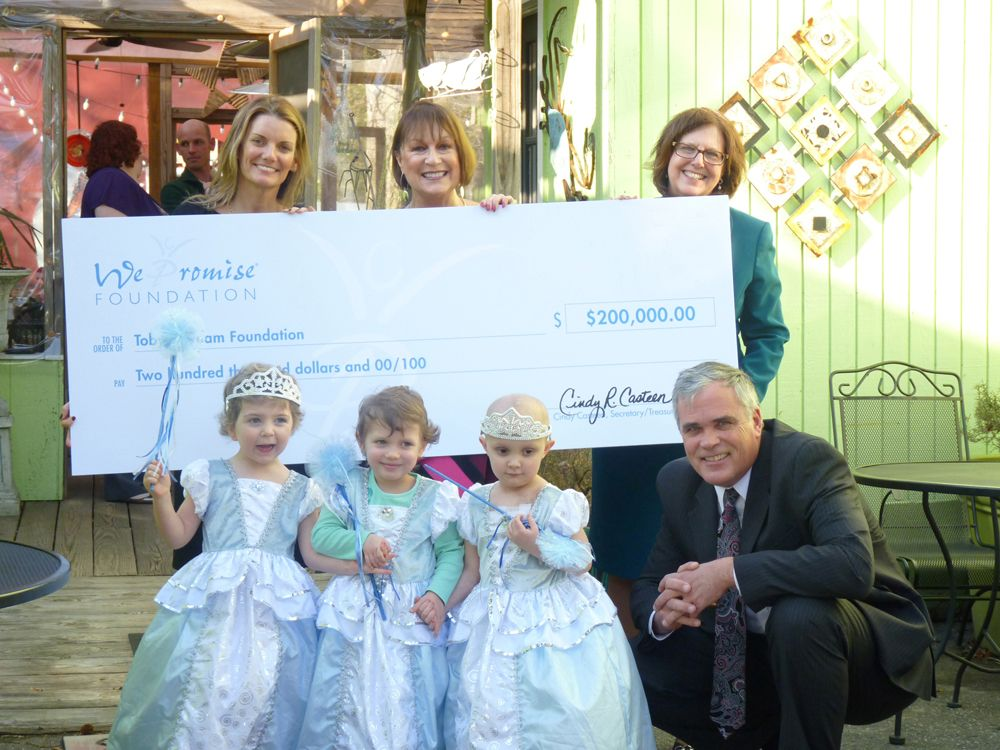 We Promise Presents $200,000 Charitable Grant to Toby's Dream Foundation