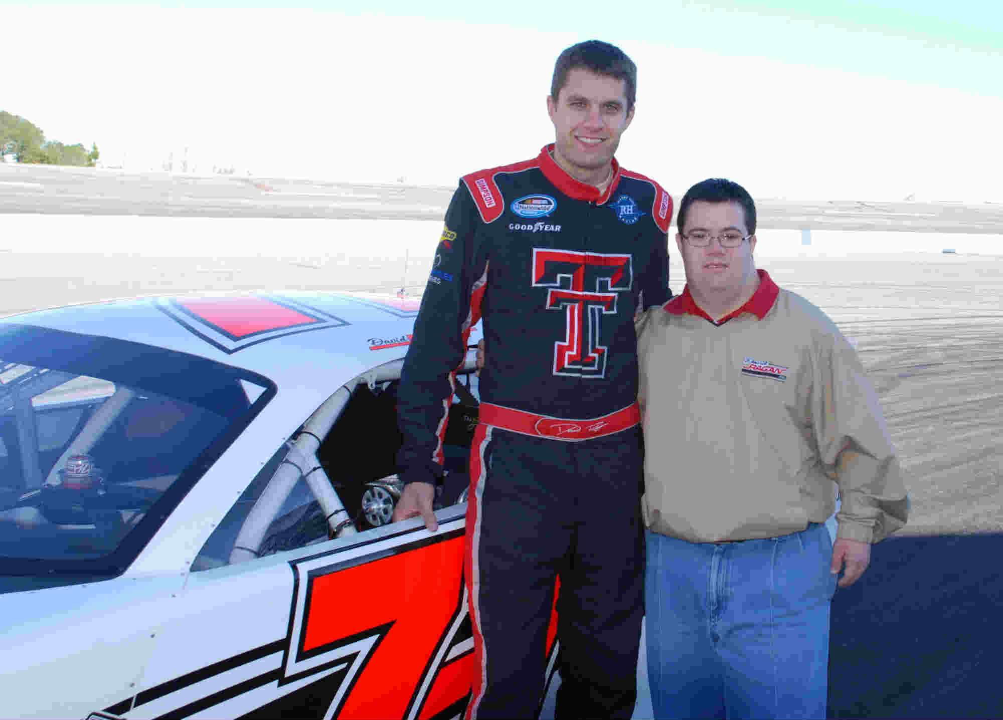 NASCAR Driver David Ragan with his brother Adam (courtesy of the Ragan family)