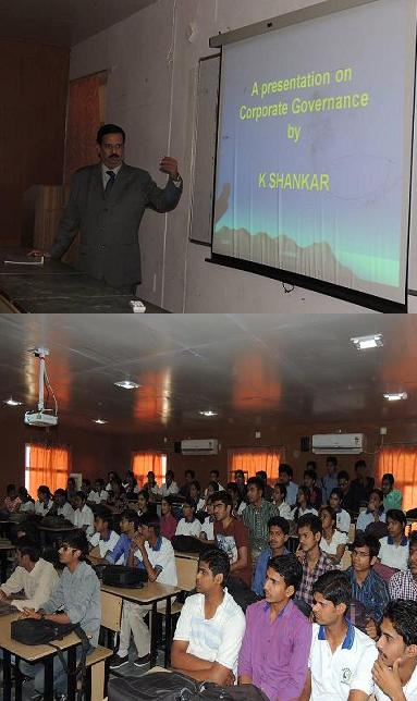 Talk on Corporate Governance at Sangam University Bhilwara Rajasthan