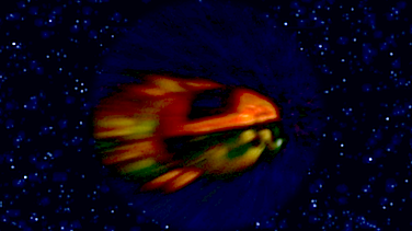 One of Marshall's space probe designs distorted by warp travel (C) 2013