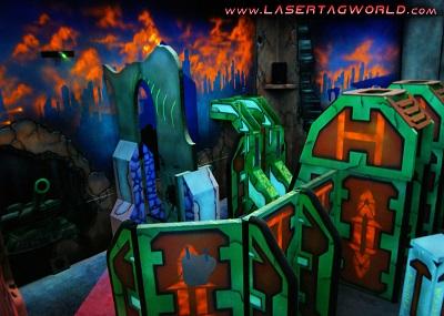 Creative Works designs battle laser tag arena for indoor go-kart facility