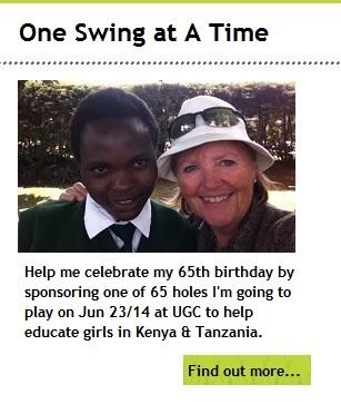 Ginny with Student Carolyne Khavoshi in Kenya