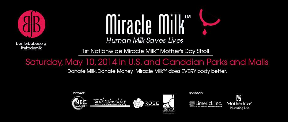 Miracle Milk Stroll in U.S. and Canada to Save Infant Lives