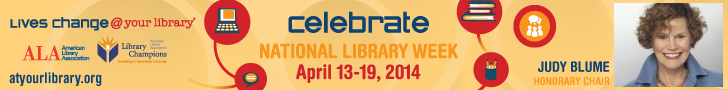 Judy Blume, Honorary Chair, National Library Week 2014