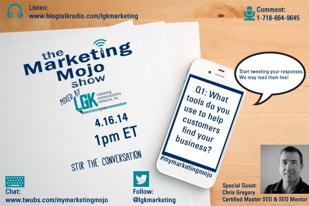 The Marketing Mojo Show April 16