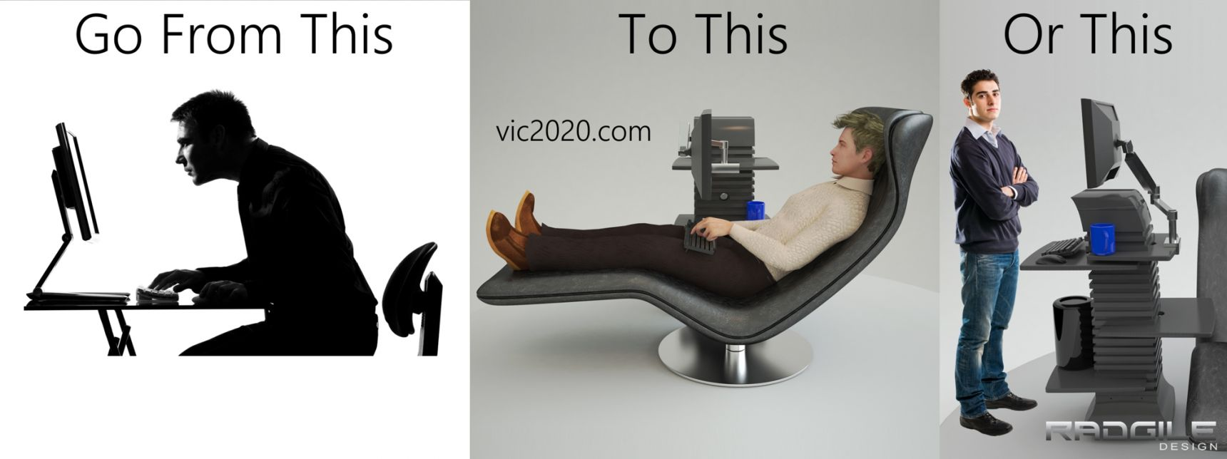 The Radgile Vic 2020 can accommodate both sitting and standing scenarios.
