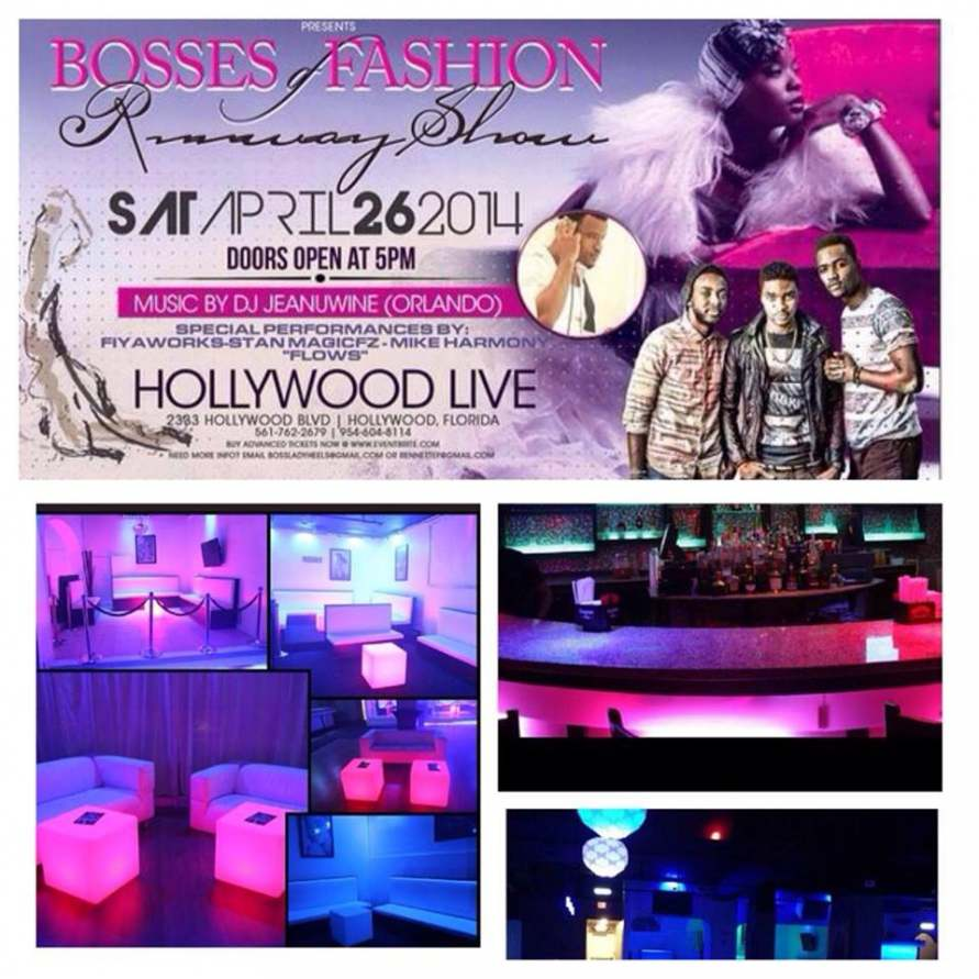 Bosses of Fashion Runway Show Hollywood Live Miami Models