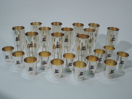 international nautical bar set with enamel flags a