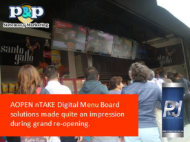 AOPEN nTAKE Digital Menu Board deployment
