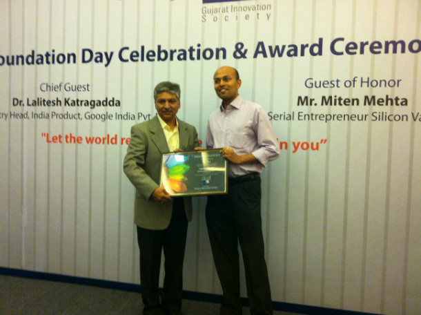Saumil Shah, VP Strategy, received the Trend Setter award on behalf of Rishabh