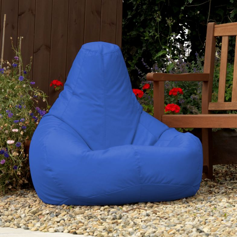 Indoor / Outdoor Recliner Bean Bag in blue