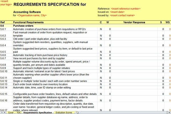 rfp requirement specifications sample Use this request for proposal (rfp) template format as a guide to finding the best software each customizable rfp template contains thousands of software requirements criteria.