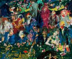 This early 1958 painting by LeRoy Neiman will be sold at auction on May 1st.