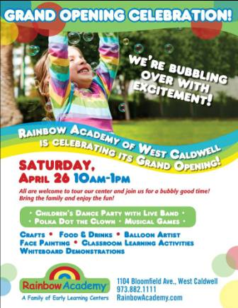 Rainbow Academy of West Caldwell to host Grand Opening Celebration on April 26