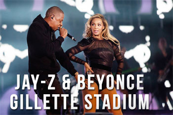 Beyonce and Jay-Z Gillette Stadium