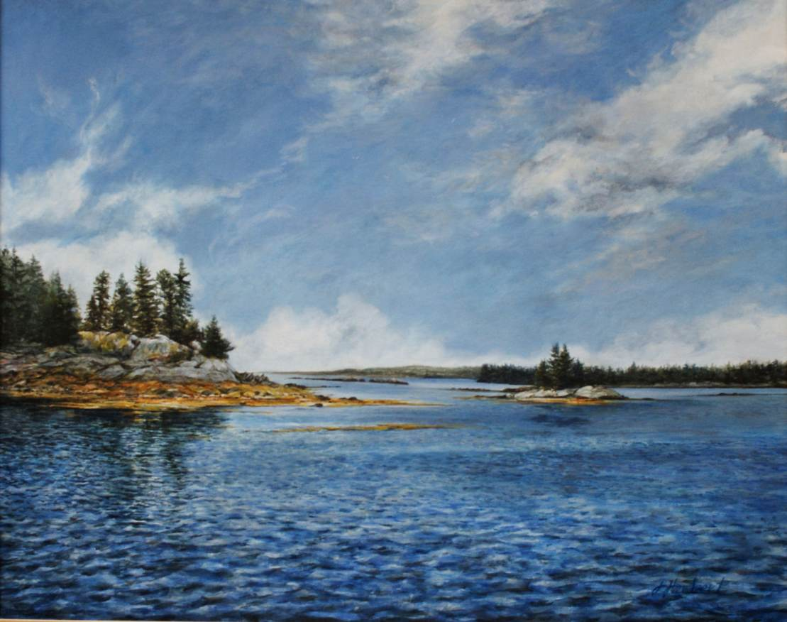 """Jane Herbert ~ """"August on the Water"""" ~ Acrylic -on -Canvas"""