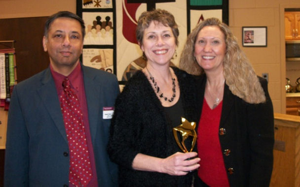 L-R, Deepak Butani, Contest Winner Patty LaSorsa, Debra M. Hollinrake