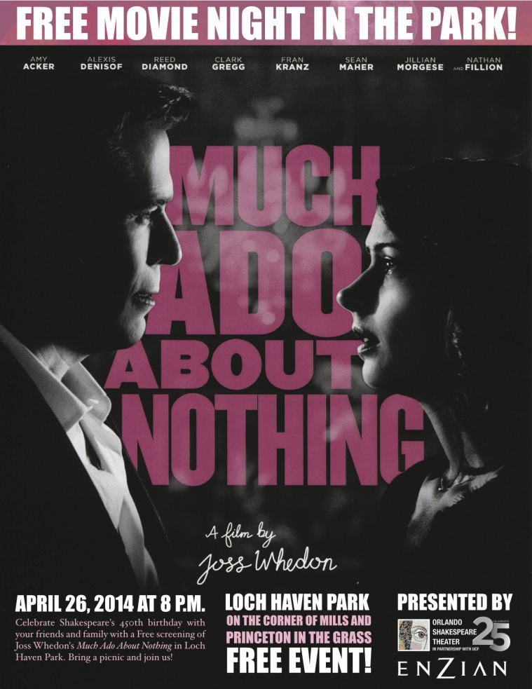 Free Movie Night in the Park, 4/26 at 8pm