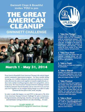 Taking Part in the Great American Cleanup - Gwinnett Challenge can be Rewarding