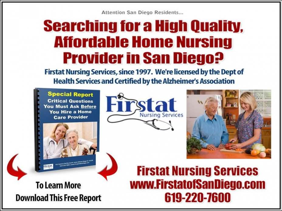 Skilled Nursing La Jolla, CA 619-220-7600 Home Care