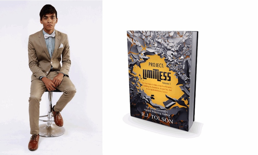 Celebrity Author CEO & Model - RJ Tolson & Project Limitless Book Vol 1. Cover