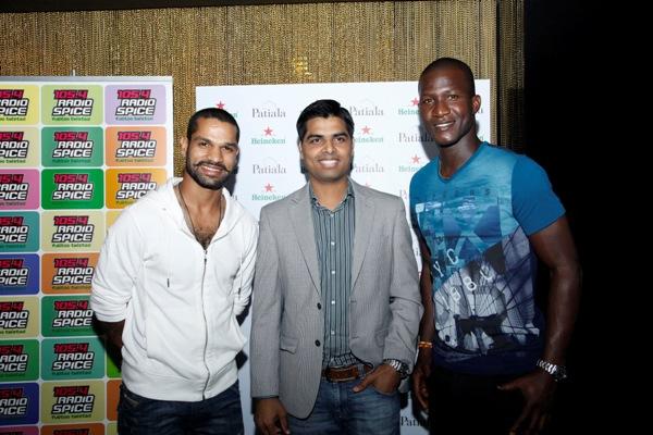 Shikhar Dhawan, Mr Ravi Singh, Darren Sammy