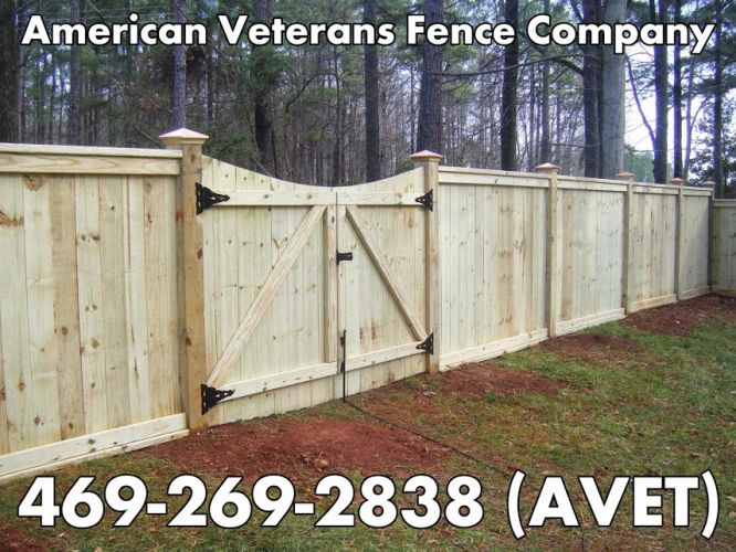 American Veterans Fence Company Advertizement with