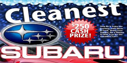 Cleanest Subaru Contest 5/6 from 5 to 8.
