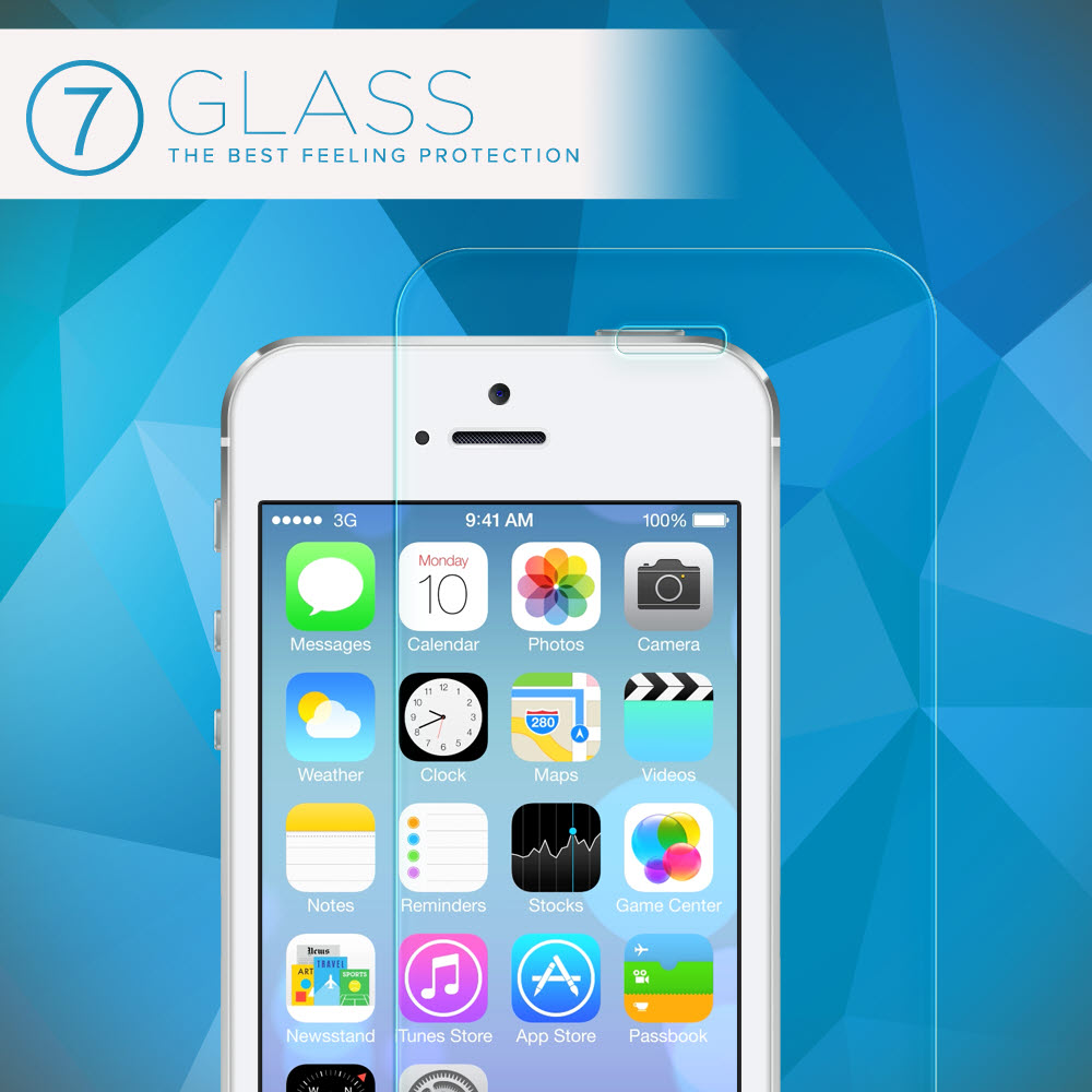 The Best feeling protection - iPhone 5s Glass Screen Protector