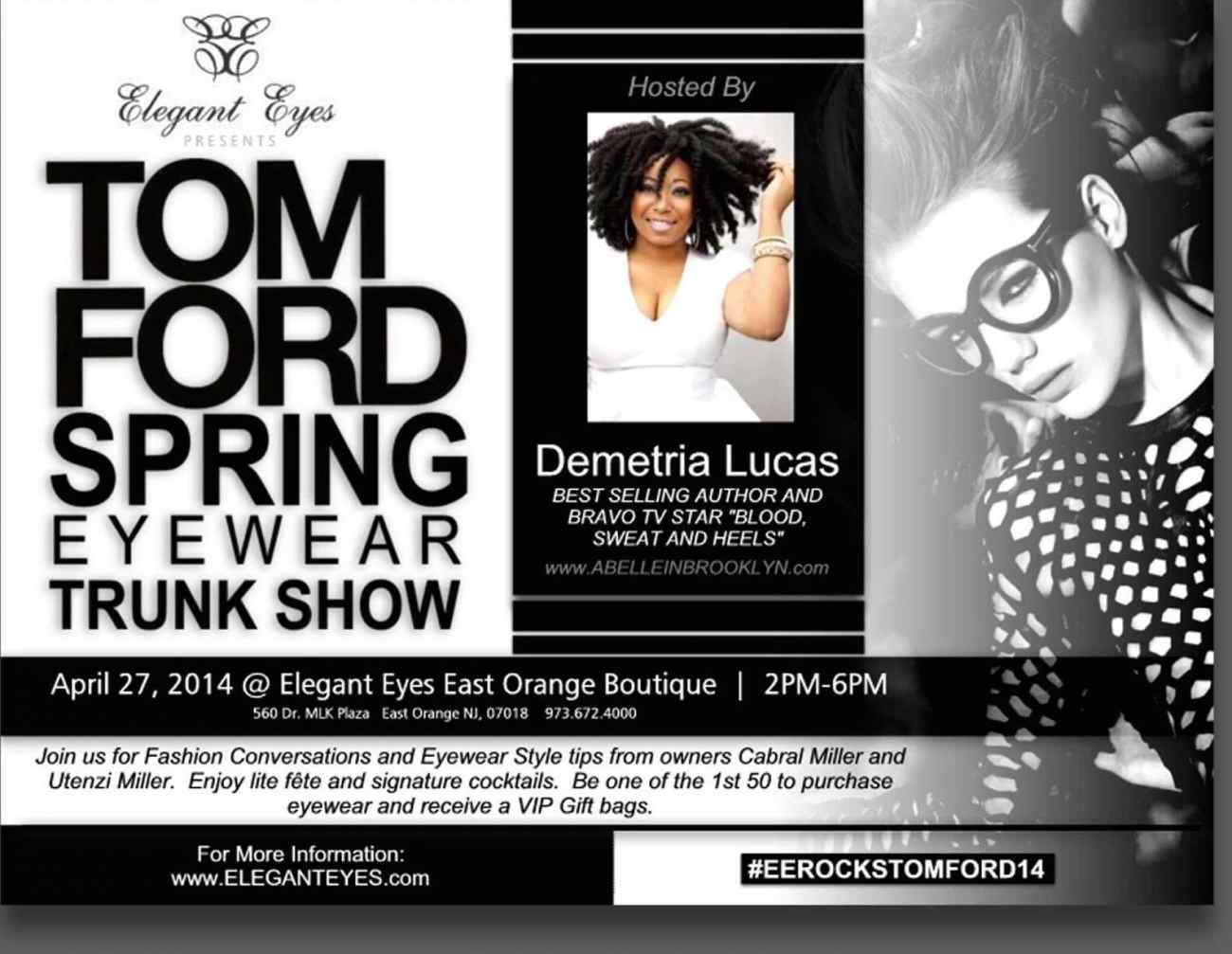 Tom Ford Trunk Show at Elegant Eyes (East Orange, NJ)