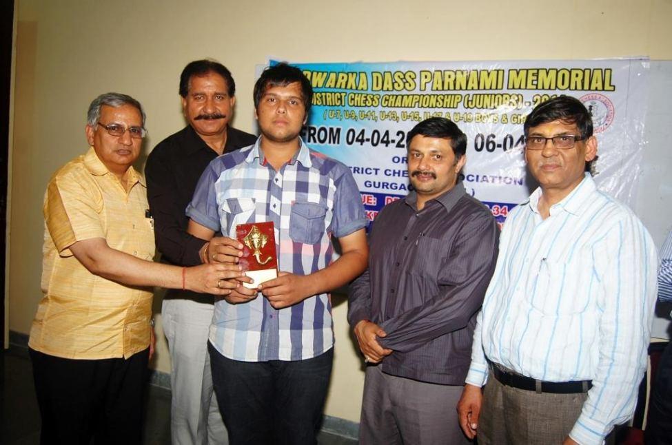 Chetan Chauhan- winner of Chess Championship organised at DPGITM