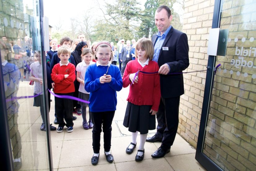 The official opening of Field Lodge care home.