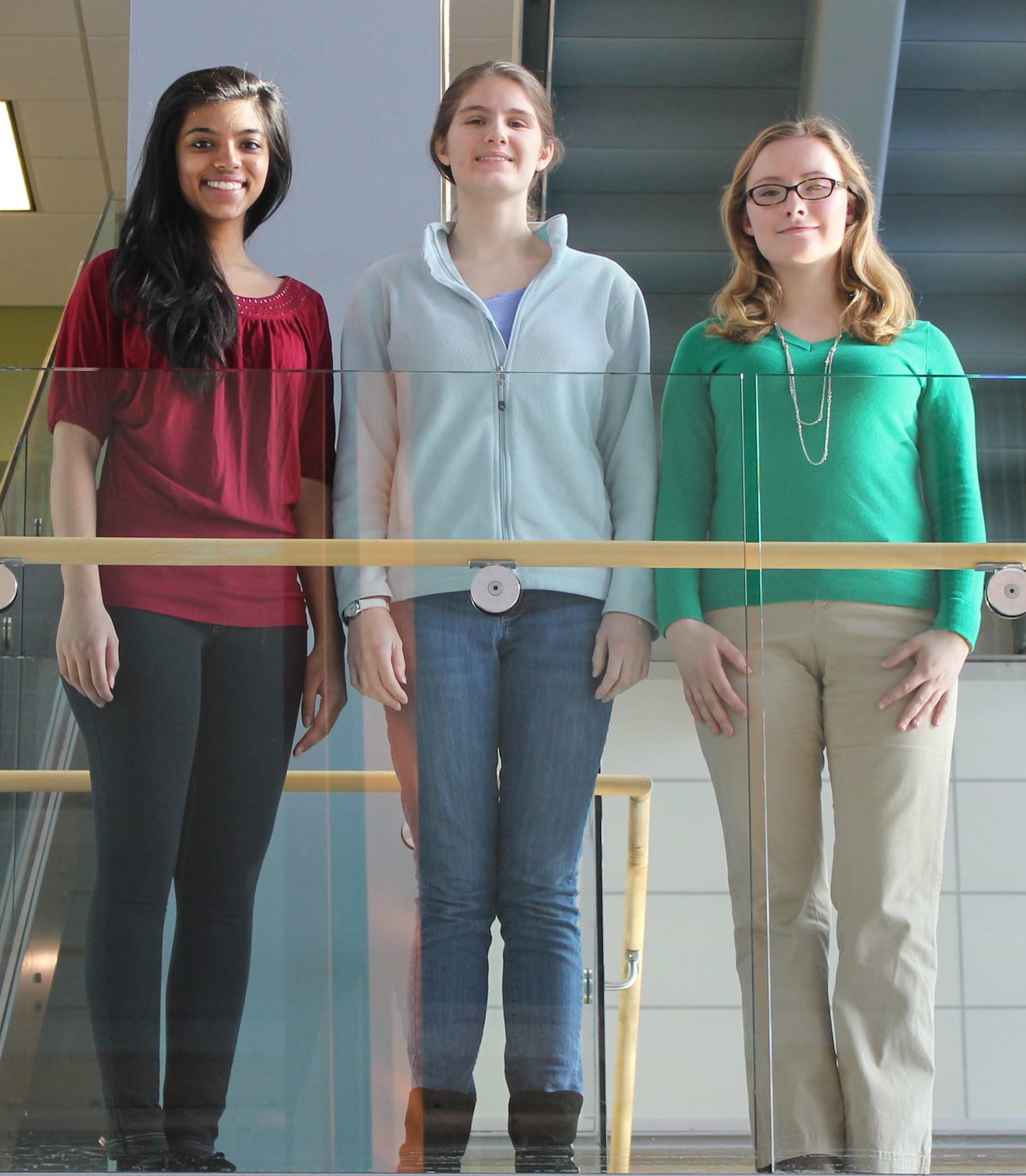 From left: Rutgers Chemistry Scholars Richa Rana, Sarah Goodman and Alicja Cygan