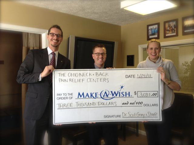 Dr Gray and Dr Tharp donate over $3,000 to Make-A-Wish Foundation