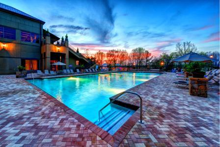 The NEW Legacy Lodge Heated Saltwater Leisure Pool at Lake Lanier Islands Resort