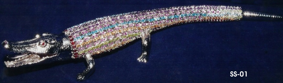 Sterling Silver Crocodile